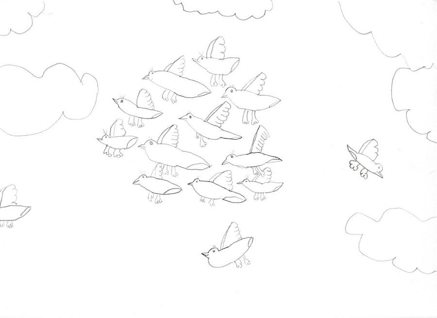 Ptice u oblacima