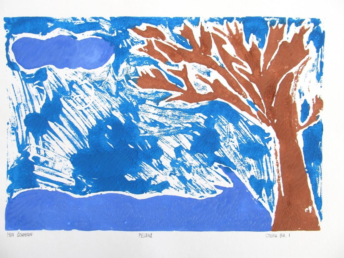 Drvo u plavom